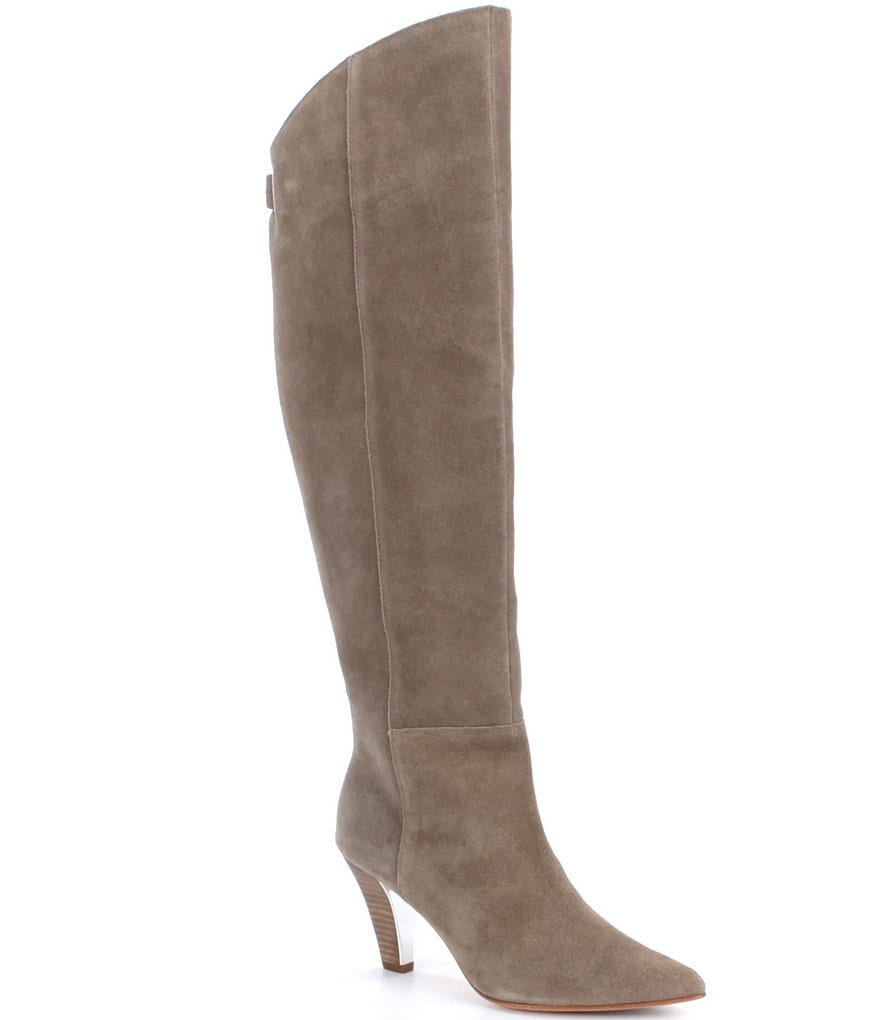Donald J Pliner Tasmin Suede Over The Knee Stiletto Boots