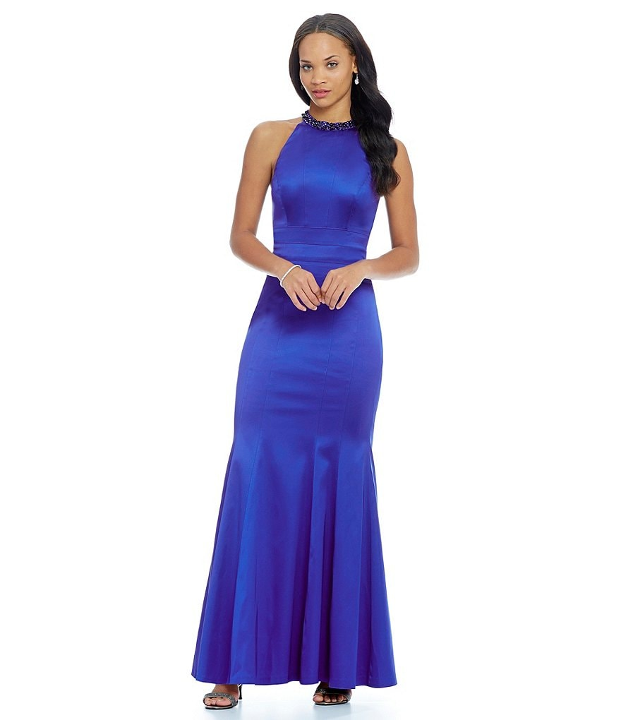 Kay Unger Halter Stretch Gown