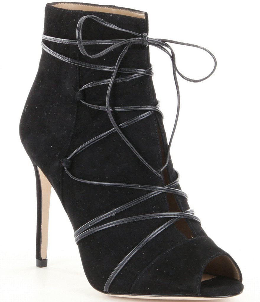Antonio Melani Sheva Lace-up Peep Toe Pumps