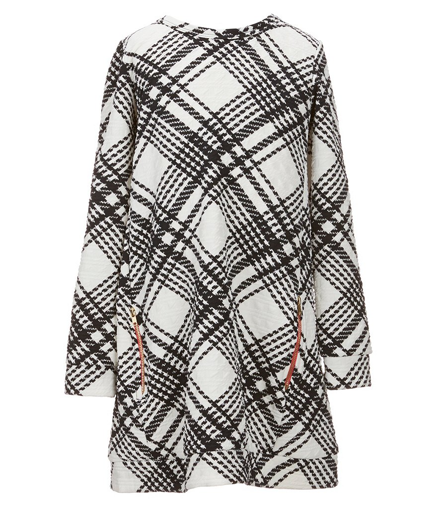 Soprano Big Girls 7-16 Plaid Zipper Shift Dress