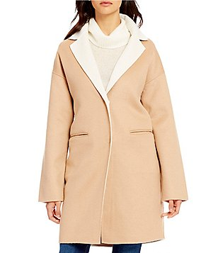 kate spade new york Double Face Shawl Collar Wool Coat
