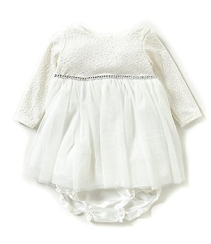 Sweetheart Rose Baby Girls 3-24 Months Long-Sleeve Ballerina Dress