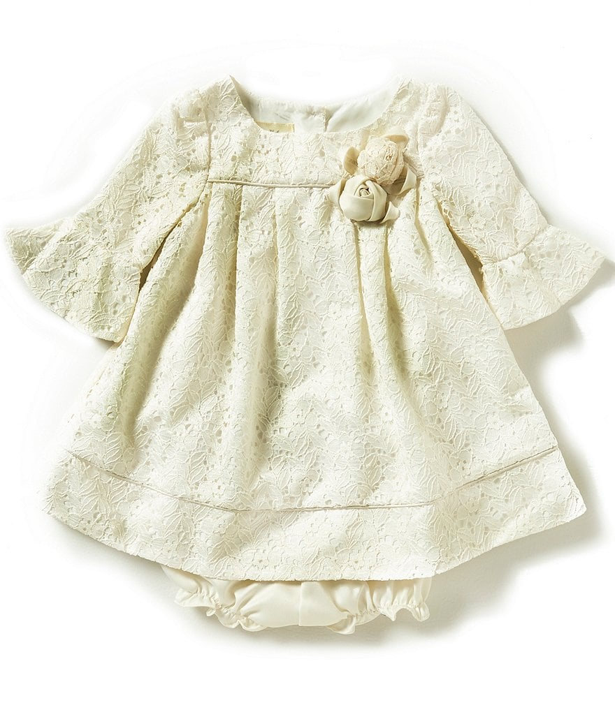 Laura Ashley London Baby Girls 12-24 Months Bell-Sleeve Textured Dress