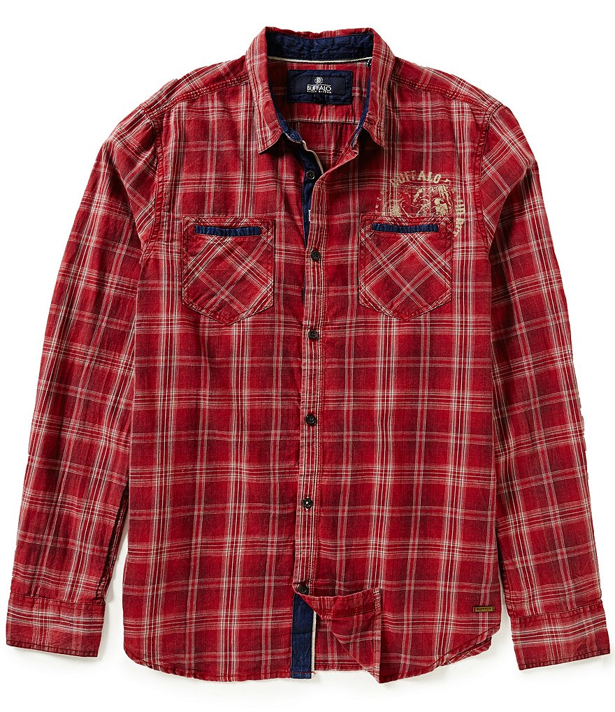 Buffalo David Bitton Satako Plaid Long-Sleeve Woven Shirt