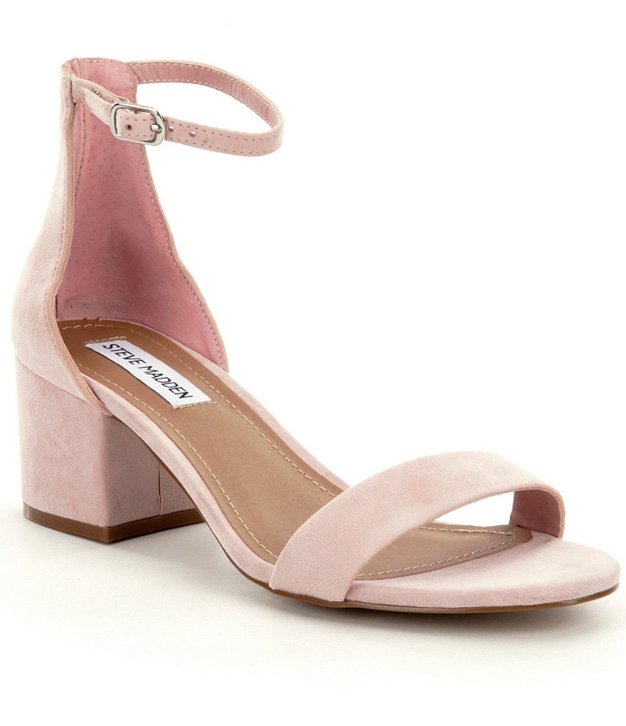steve madden irenee ankle strap suede block heel dress sandals dillards. Black Bedroom Furniture Sets. Home Design Ideas