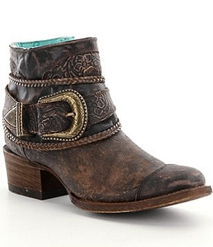 Corral Boots Floral Embossed Booties