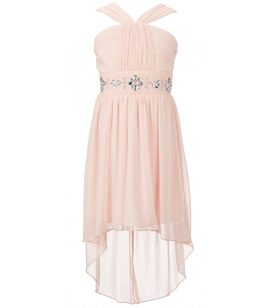 My Michelle Big Girls 7-16 Beaded Chiffon High-Low Dress