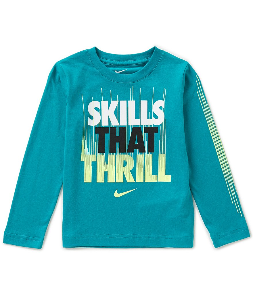 Nike Little Boys 2T-7 Skills That Thrill Long-Sleeve Graphic Tee