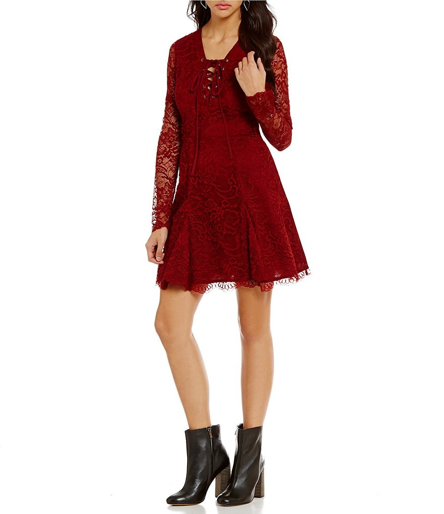 Lovers + Friends Mercury Lace Fit-and-Flare Dress