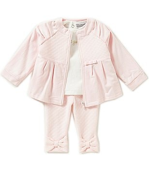 Wendy Bellissimo Baby Girls 3-24 Months French Terry Jacket & Pants & Solid Knit Tee Set