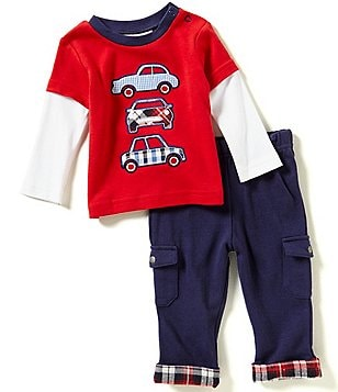 Wendy Bellissimo Baby Boys 3-24 Months Color Block Slider Tee & Pants Set