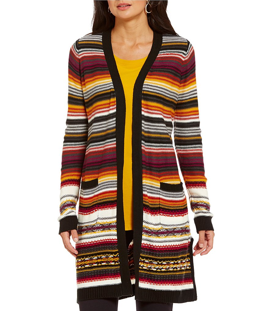 Westbound Two Pocket Open Neck Duster Cardigan