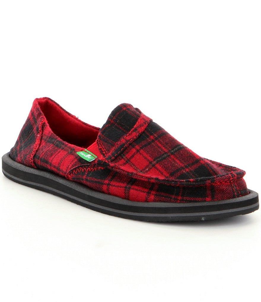 sanuk pocket plaid slip on shoes dillards
