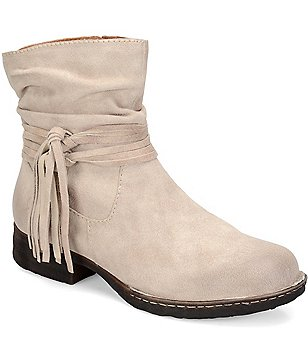 Born Cross Fringed Western Booties