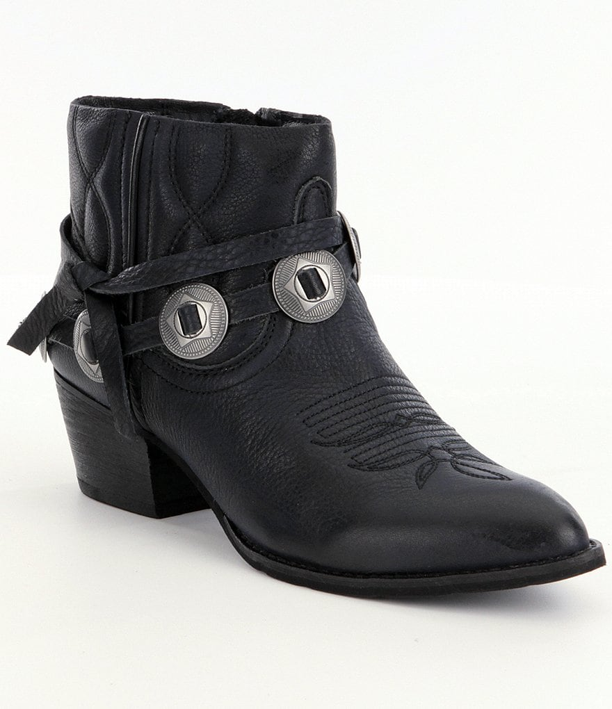 Dolce Vita Skye Metal-Detailed Block-Heel Booties