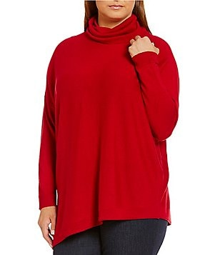 Eileen Fisher Plus Turtleneck Asymmetric Top