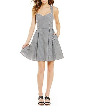 Lauren James Livingston Gingham Dress