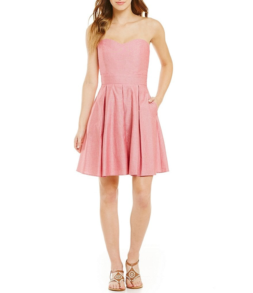 Lauren James Corbin Oxford Seersucker Sweetheart Dress