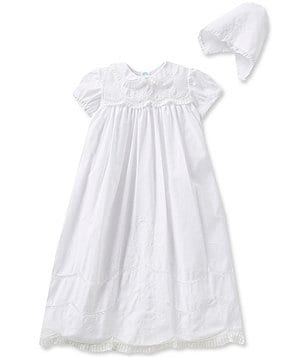 Feltman Brothers Baby Girls Newborn-12 Months Scalloped Yoke Christening Gown