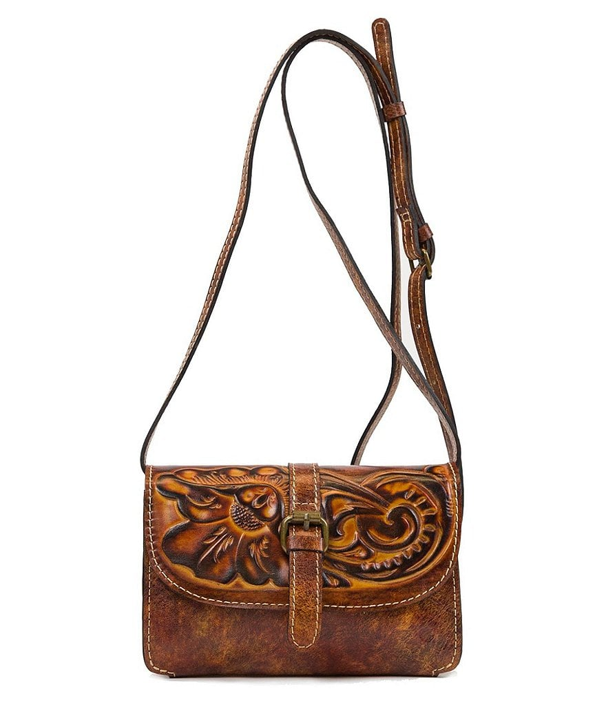 Patricia Nash Tuscan Tooled Collection Tori Embossed Cross-Body Bag