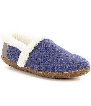 TOMS Fair Isle Faux-Shealing Lined Slippers