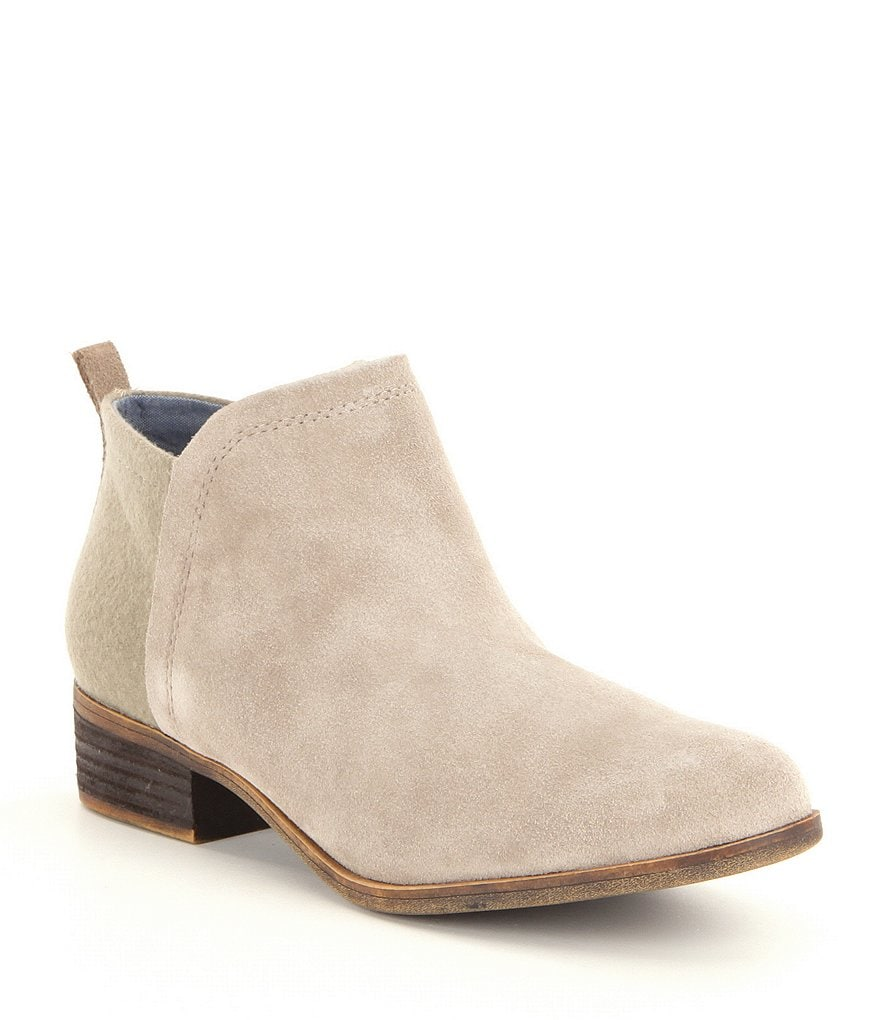 TOMS Deia Suede and Wool Booties