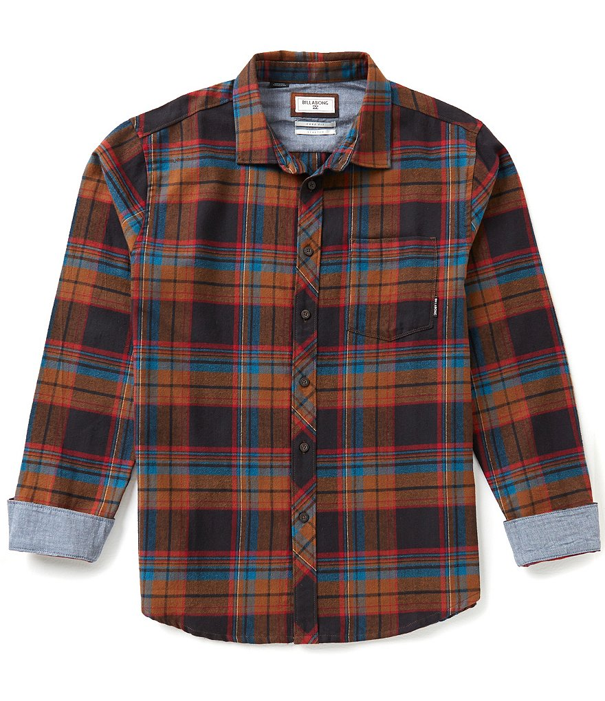 Billabong Coastline Flannel Plaid Long-Sleeve Shirt