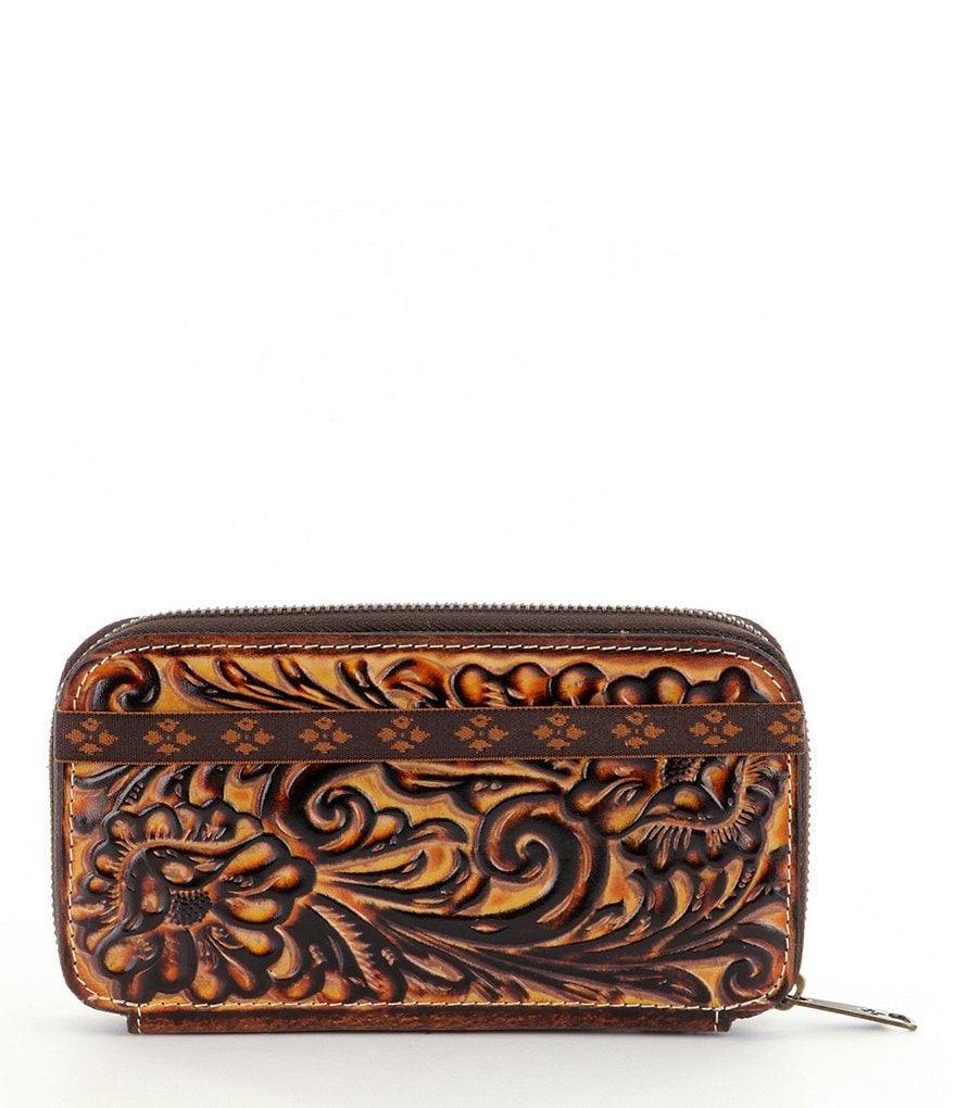 Patricia Nash Tuscan Tooled Collection Oria Embossed Wallet