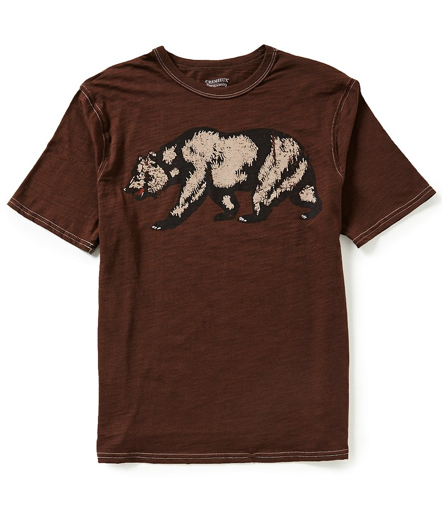 Cremieux Jeans Short-Sleeve Bear Graphic Tee