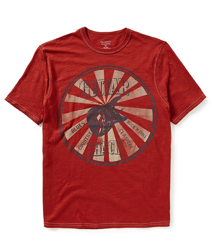 Cremieux Jeans Short-Sleeve Guitar Graphic Tee