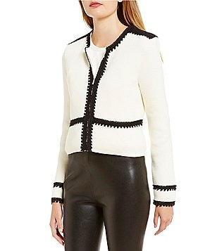 Katherine Kelly Nicole Novelty Trim Knit Jacket