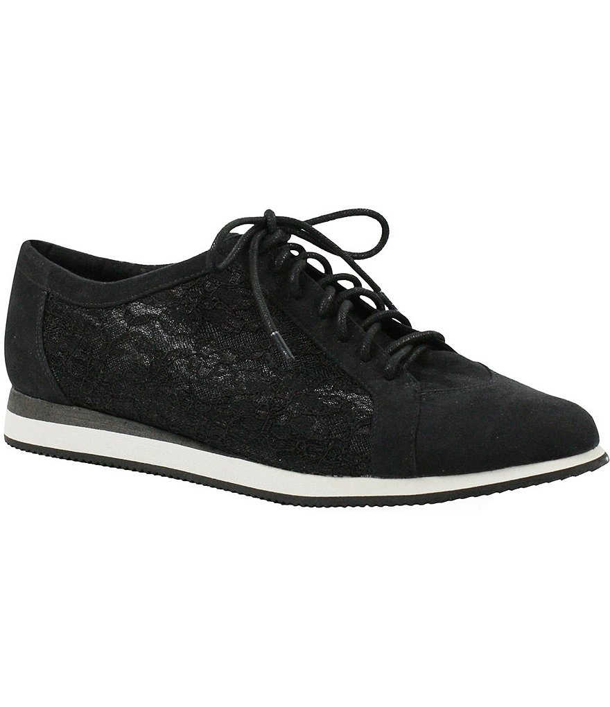 J.Renee Mackenna Lace & Suede Lace Up Sneakers