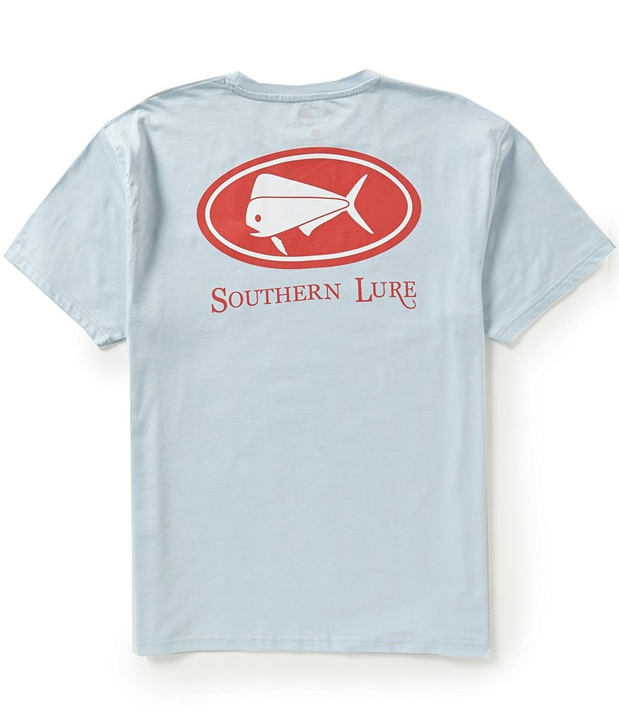 Southern Lure Elliptical Logo Chest-Pocket Crewneck Graphic Tee