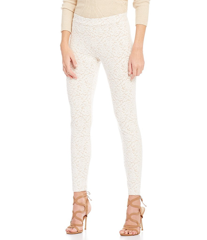 HUE Brushed Lace Leggings