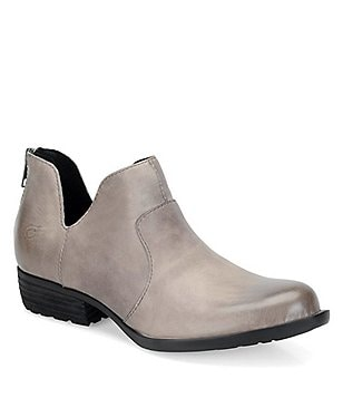 Born Kerri Leather Back Zip Side Cutout Booties