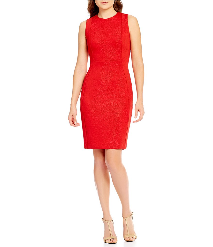 Calvin Klein Sparkle Scuba Sheath Dress