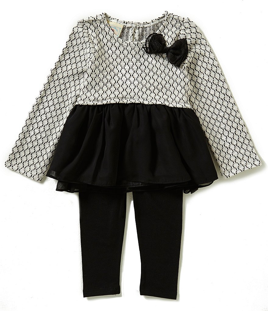 Marmellata Little Girls 2T-6X Bow Top & Leggings Set