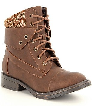 Steve Madden Girls´ JJORDANN Cap-Toe Lace-Up Combat Boots