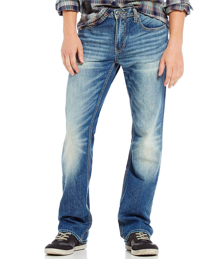Buffalo David Bitton King Slim-Fitting Bootcut Denim Jeans