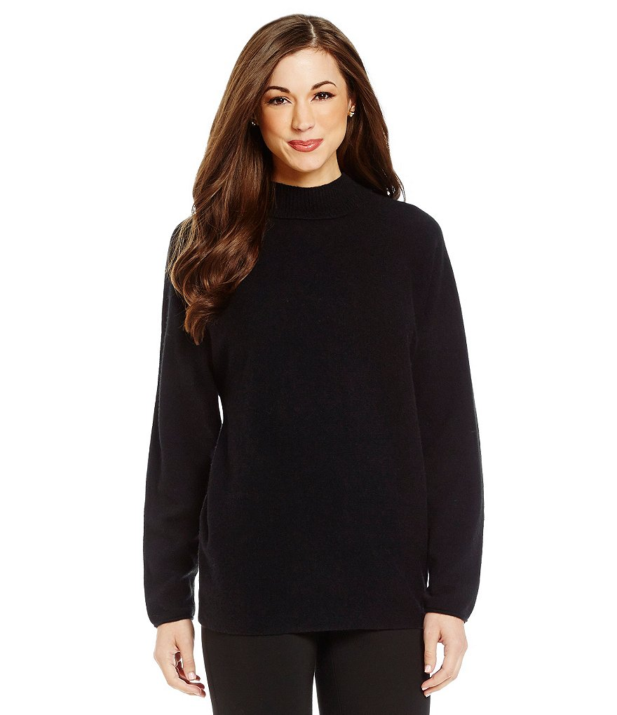 Antonio Melani Cashmere Alexia Mock Neck Split Back Sweater