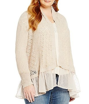 Jessica Simpson Plus Tovelo Hi-Low Cardigan