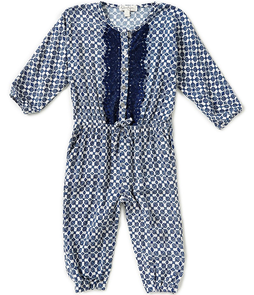 Jessica Simpson Baby Girls 12-24 Months Printed Romper