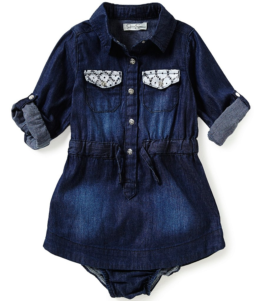 Jessica Simpson Baby Girls 12-24 Months Denim Dress