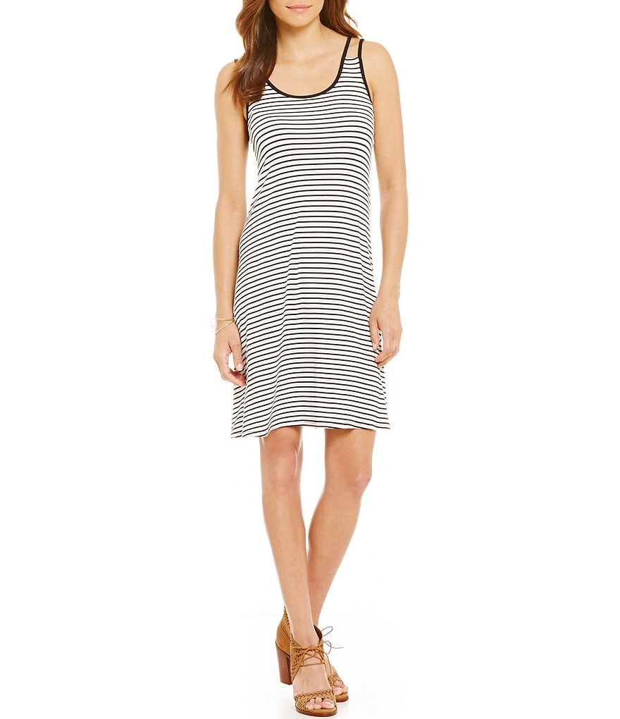 GB Double Strap Striped Dress