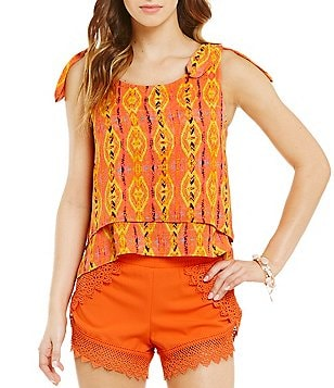 GB Double Layer High-Low Hem Printed Tank