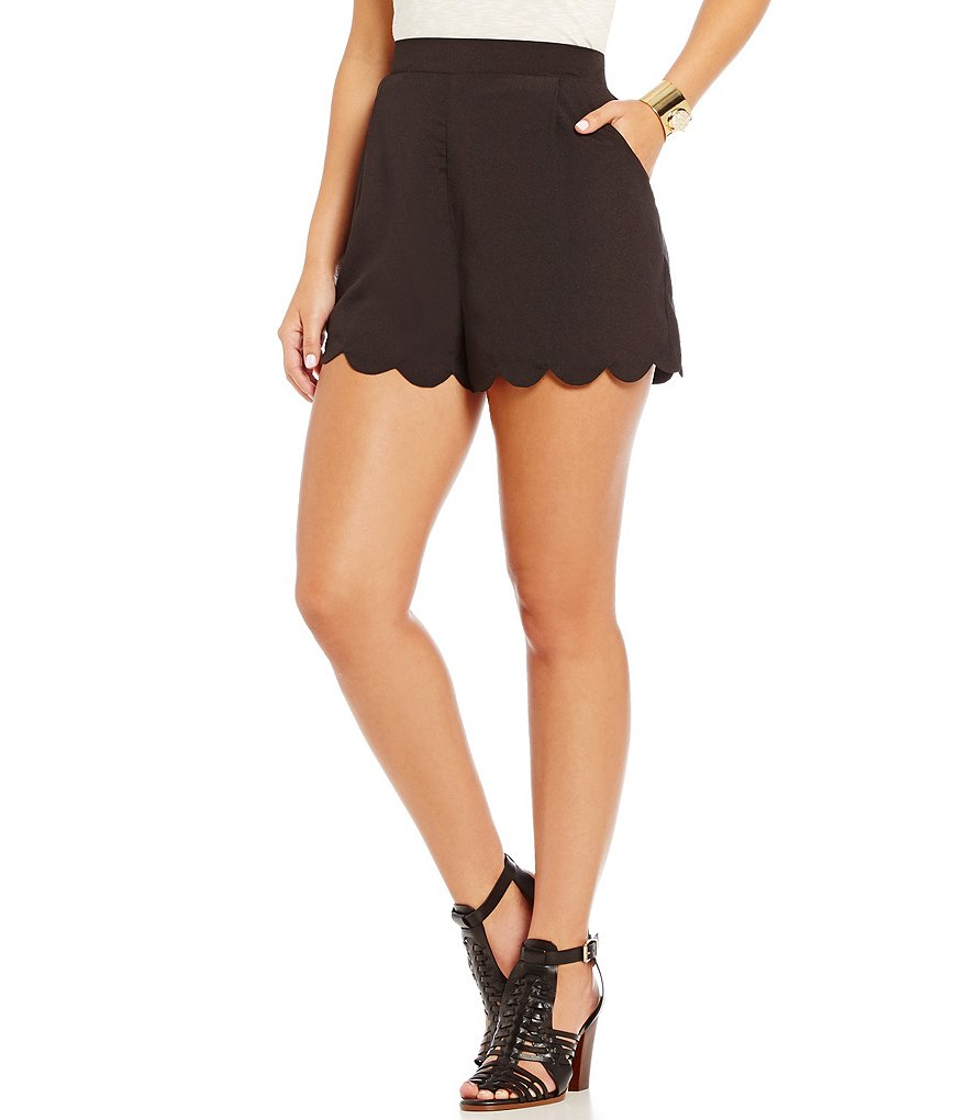 GB Pleated Scalloped Elastic Shorts