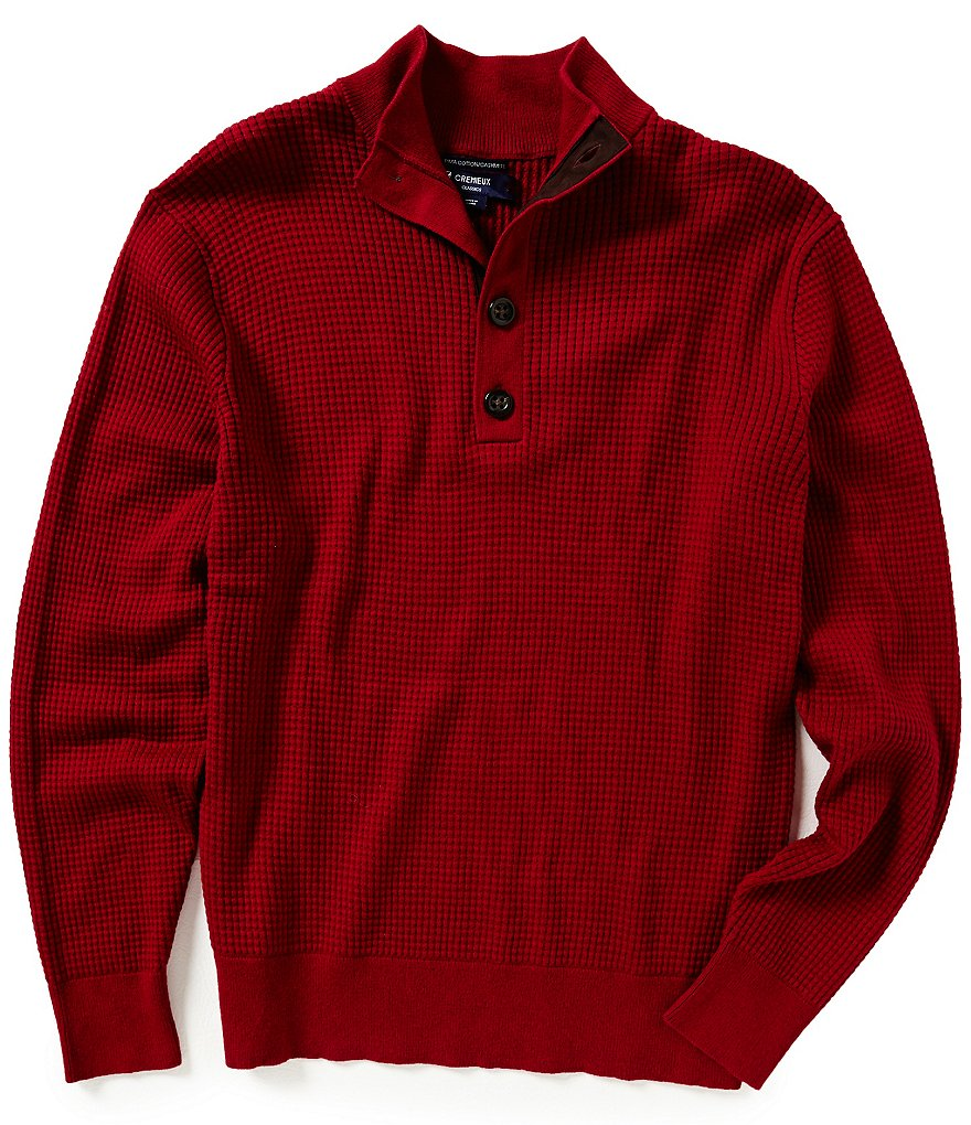 Cremieux Cashmere Blend Waffle Sweater