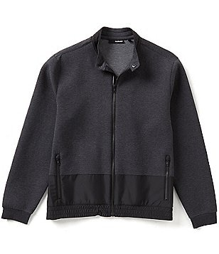 Murano Manhattan Collection Knit Jacquard Zip Front Jacket