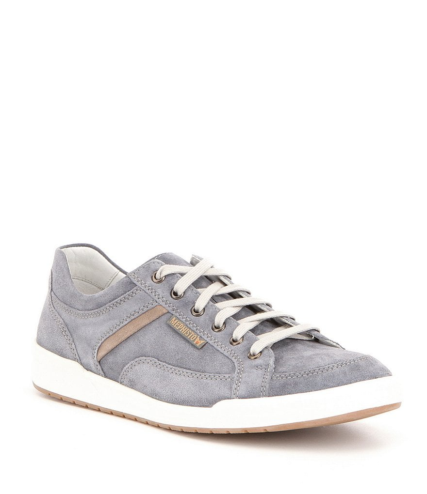 Mephisto Men´s Rodrigo Leather and Suede Trim Sneakers