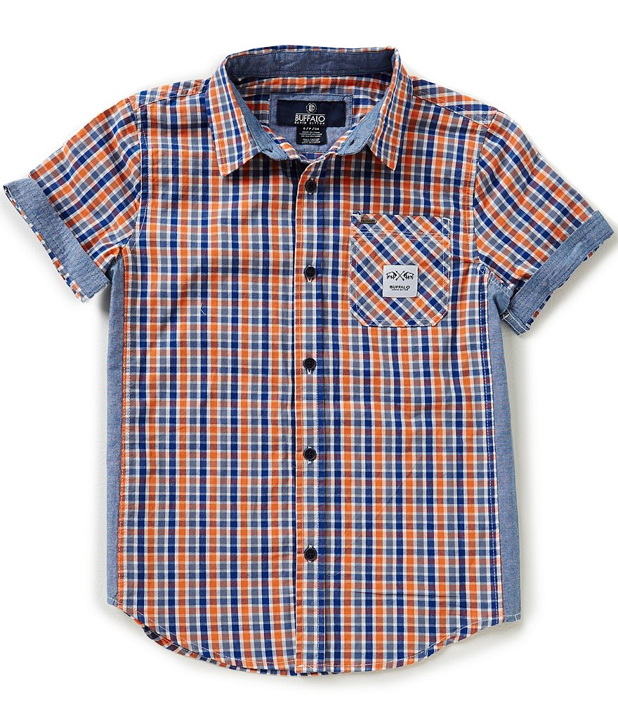 Buffalo David Bitton Big Boys 8-20 Salevi Plaid Woven Shirt